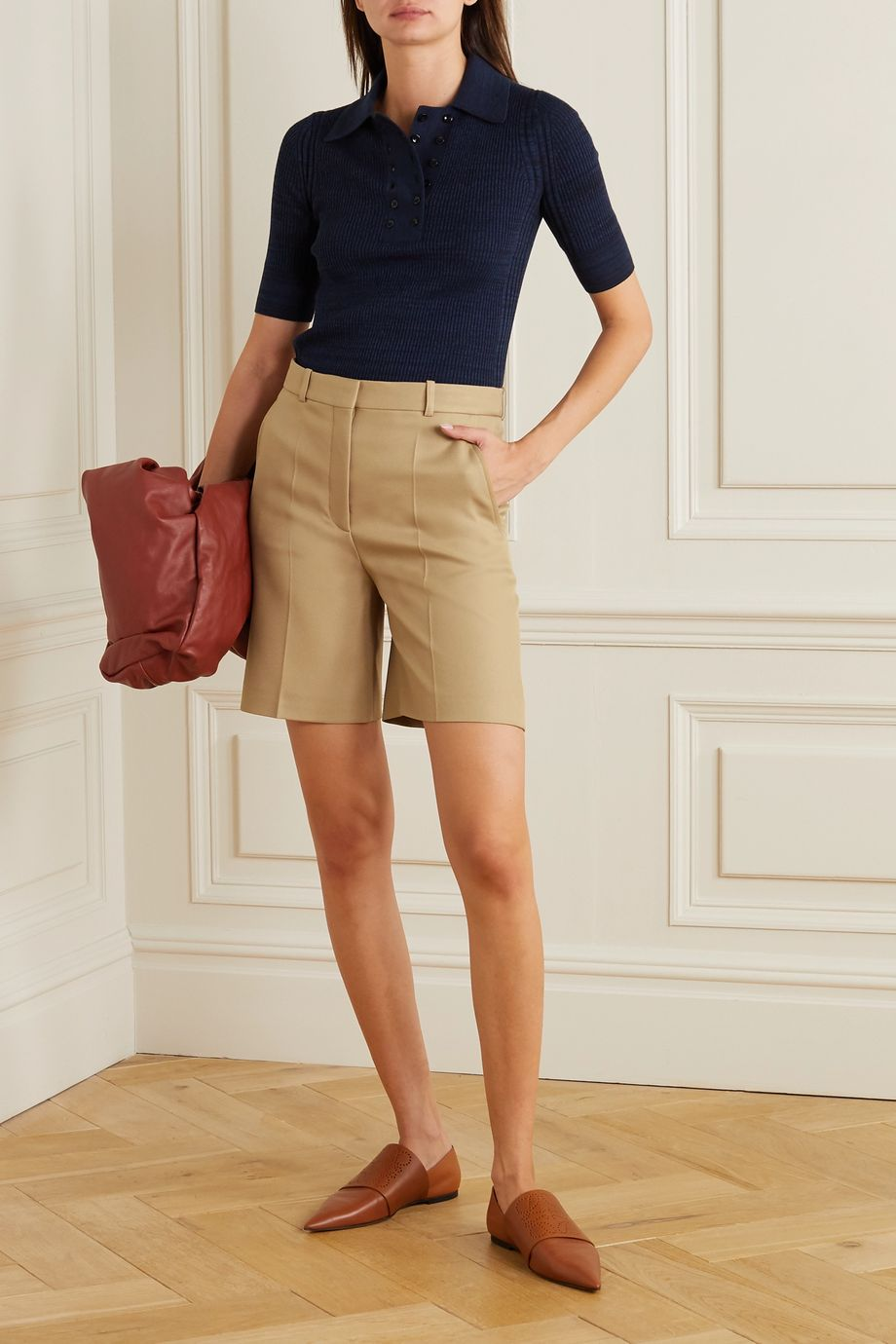 Stella McCartney Amber gabardine shorts