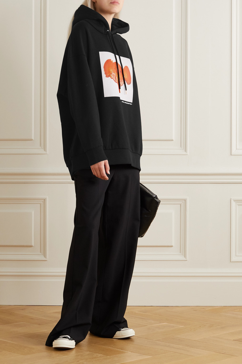 Stella McCartney + NET SUSTAIN printed organic cotton-jersey hoodie