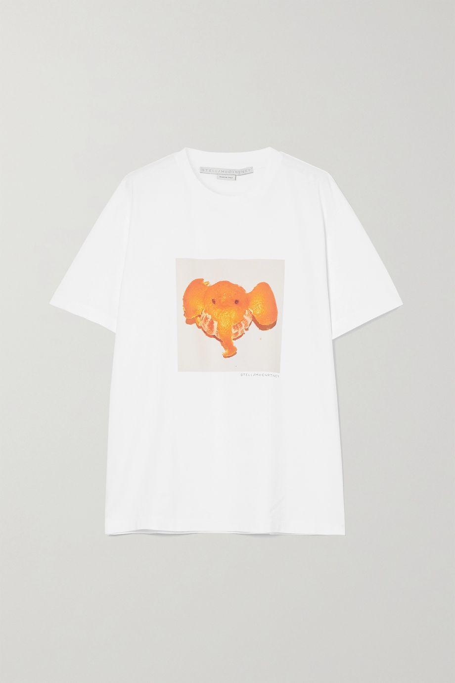 Stella McCartney T-shirt en jersey de coton biologique imprimé - NET SUSTAIN