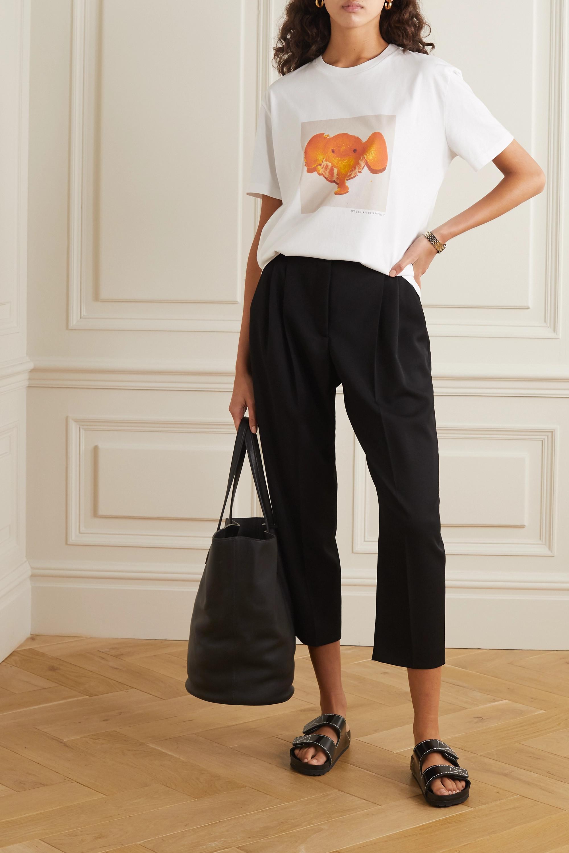 Stella McCartney + NET SUSTAIN printed organic cotton-jersey T-shirt