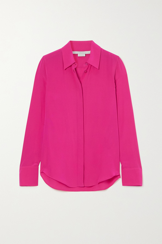 Silk Crepe Pink Shirt