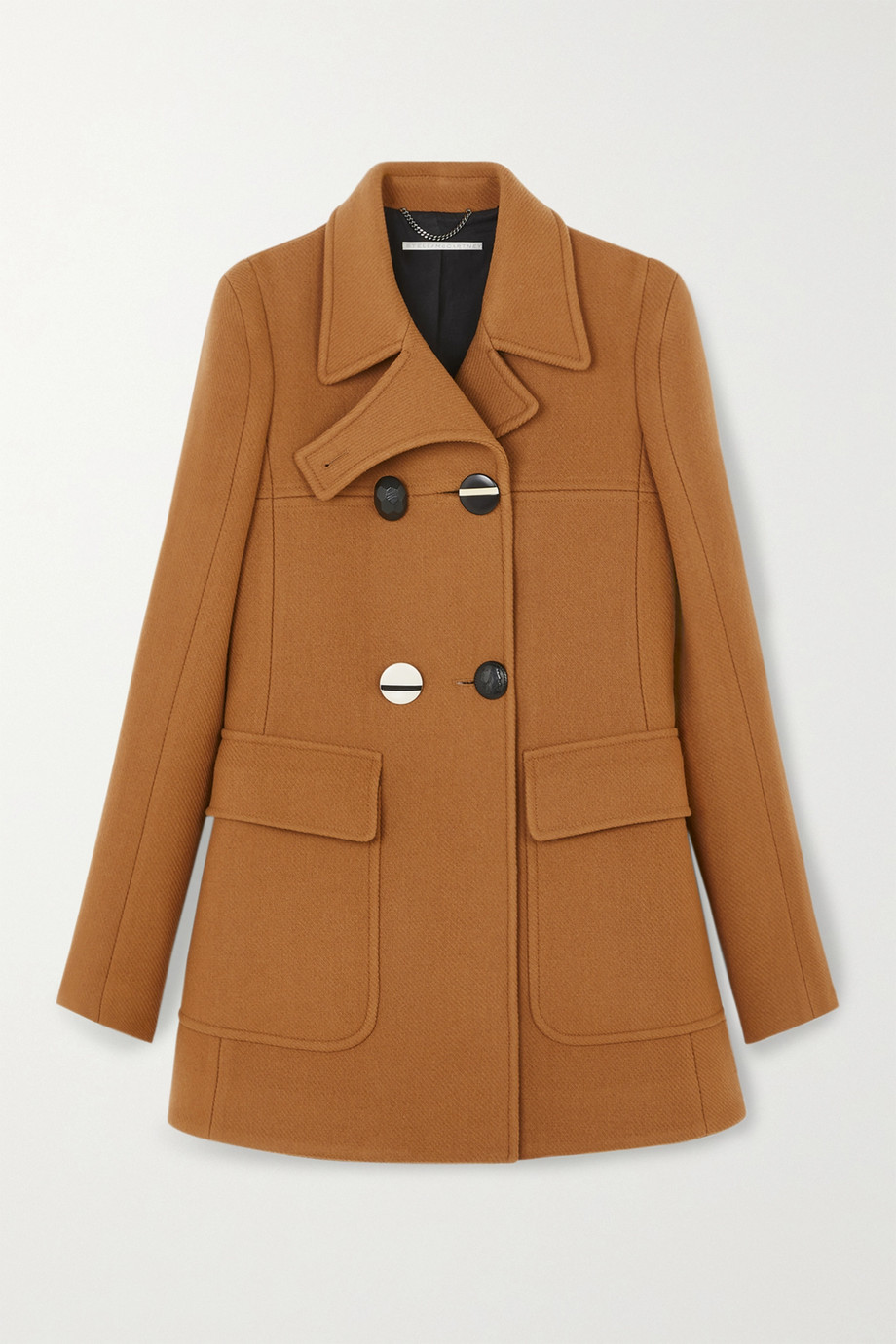 Stella McCartney Nyla double-breasted wool-felt coat