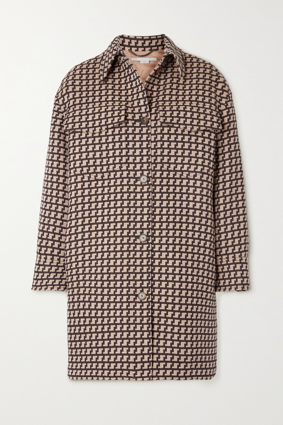 Stella McCartney Kerry oversized wool-jacquard coat