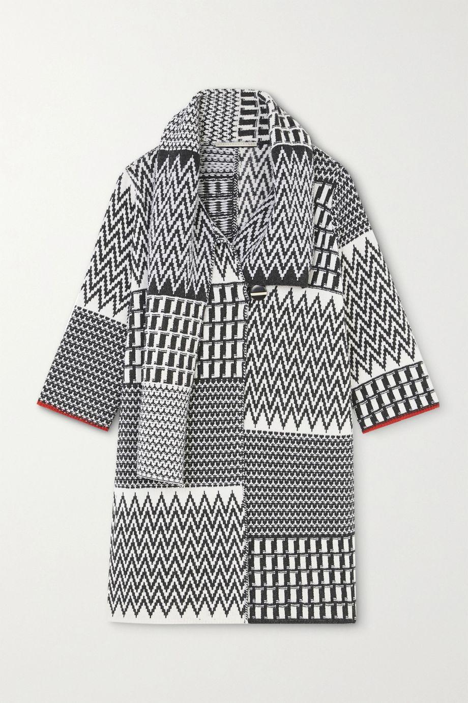 Stella McCartney Jacquard-knit virgin wool coat