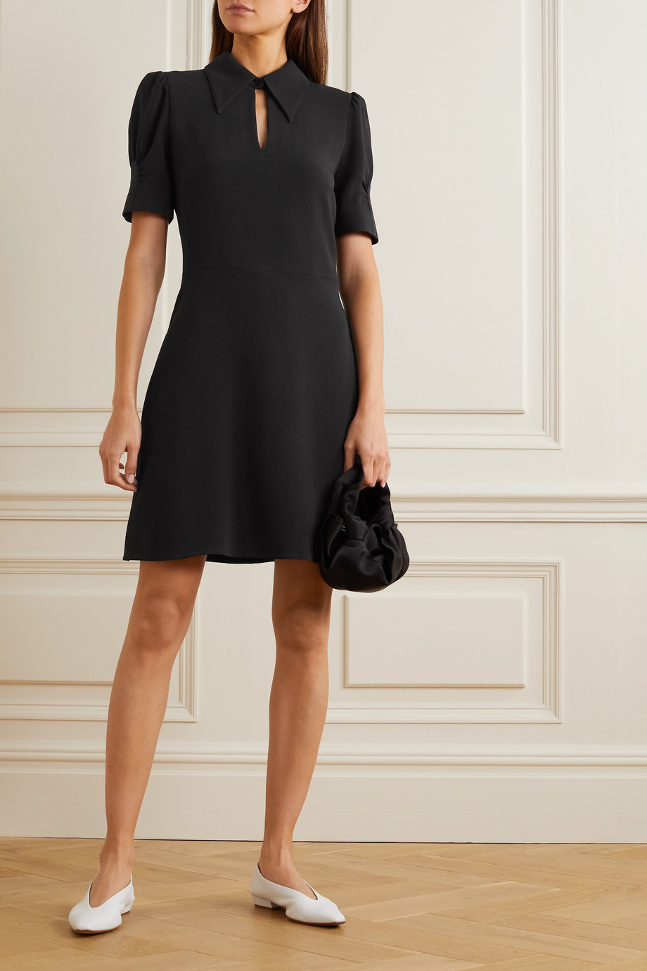 Stella McCartney Blair Minikleid aus Crêpe mit Cut-out