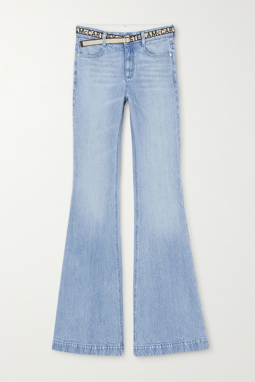 Stella McCartney Salt & Pepper belted mid-rise flared jeans