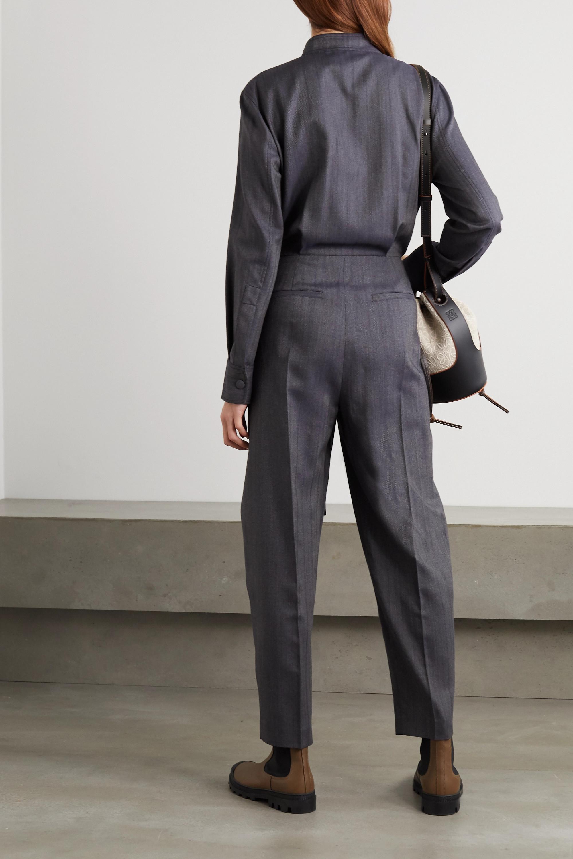 Stella McCartney Brielle belted wool-blend jumpsuit