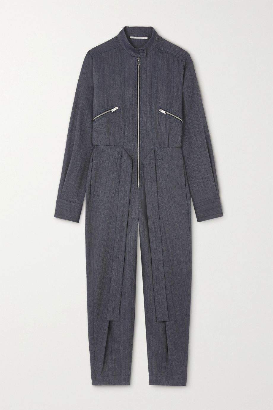 Stella McCartney Brielle belted wool-blend jumpsuit
