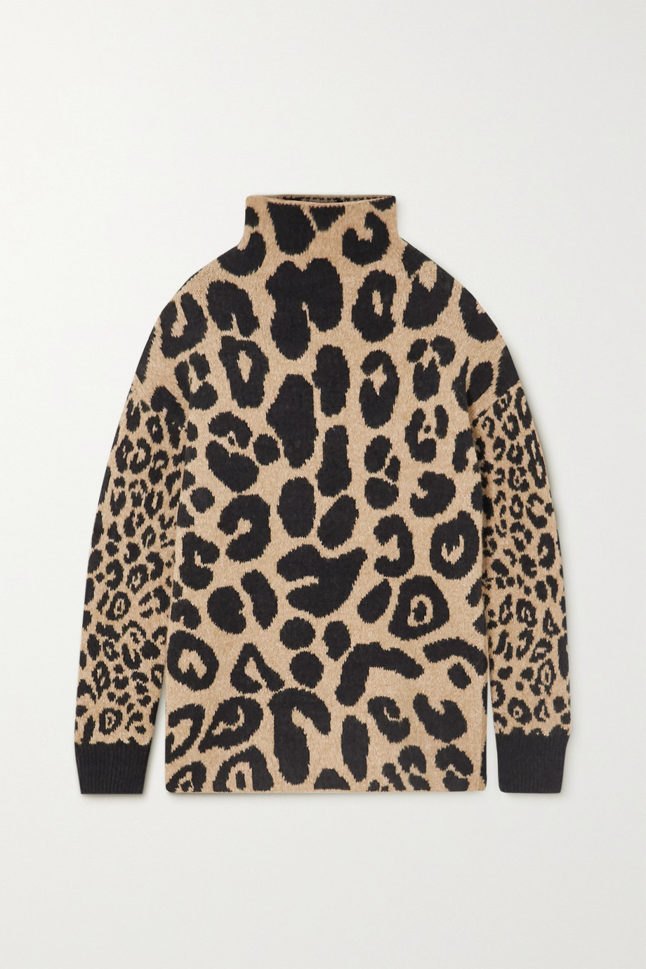 Stella McCartney Leopard-intarsia knitted sweater