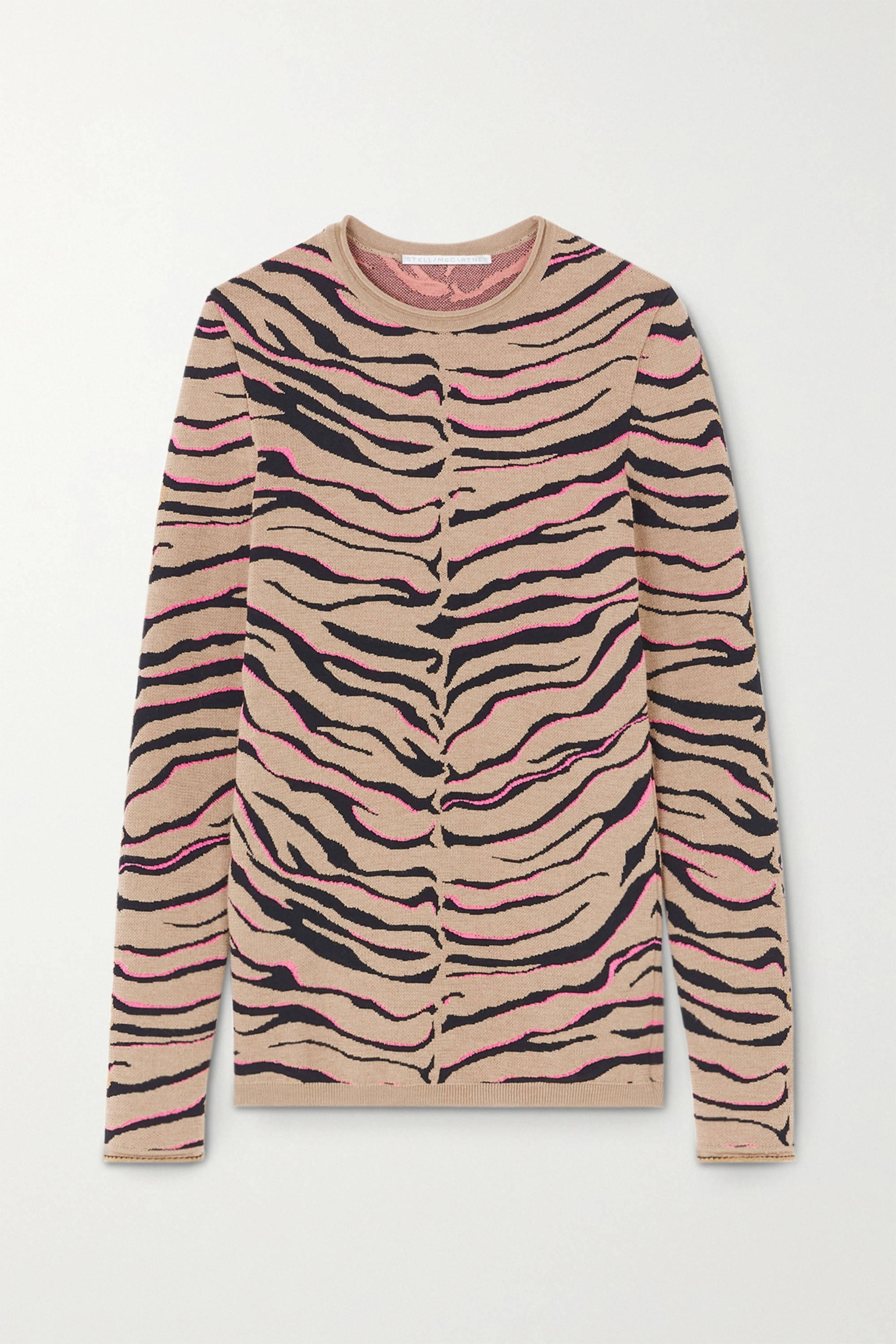 Stella McCartney Jacquard-knit wool-blend sweater