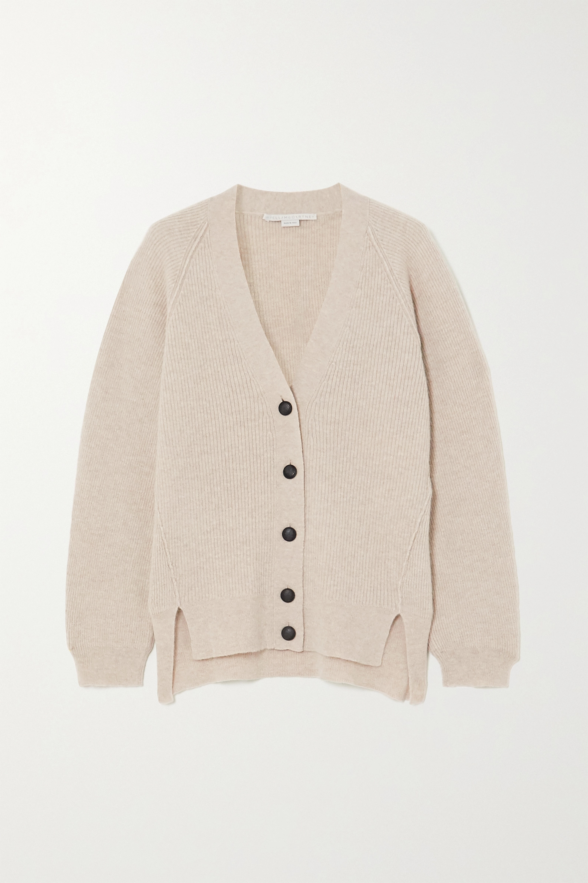 Stella McCartney Ribbed wool and alpaca-blend cardigan