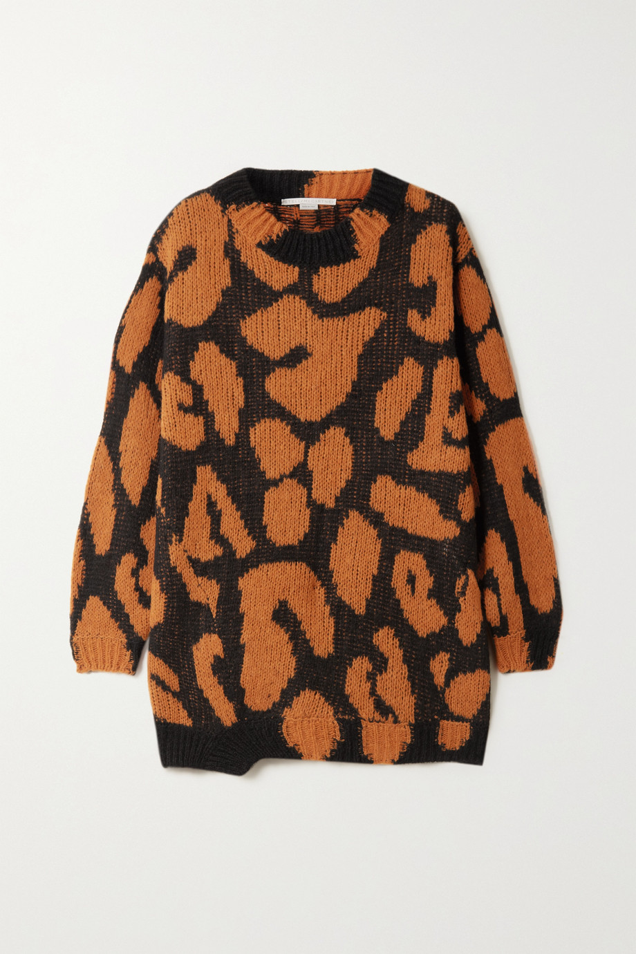 Stella McCartney Leopard-intarsia sweater