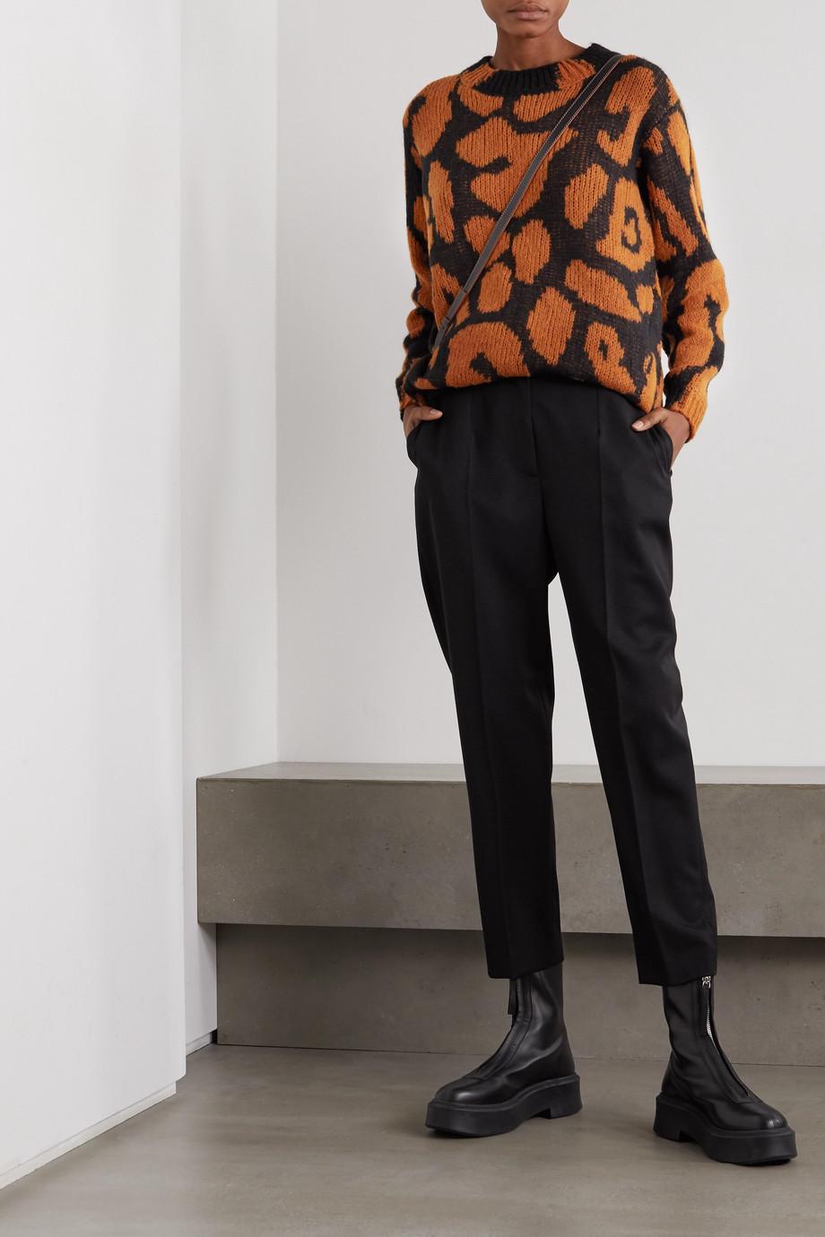 Stella McCartney Pullover mit Leopardenintarsienmuster