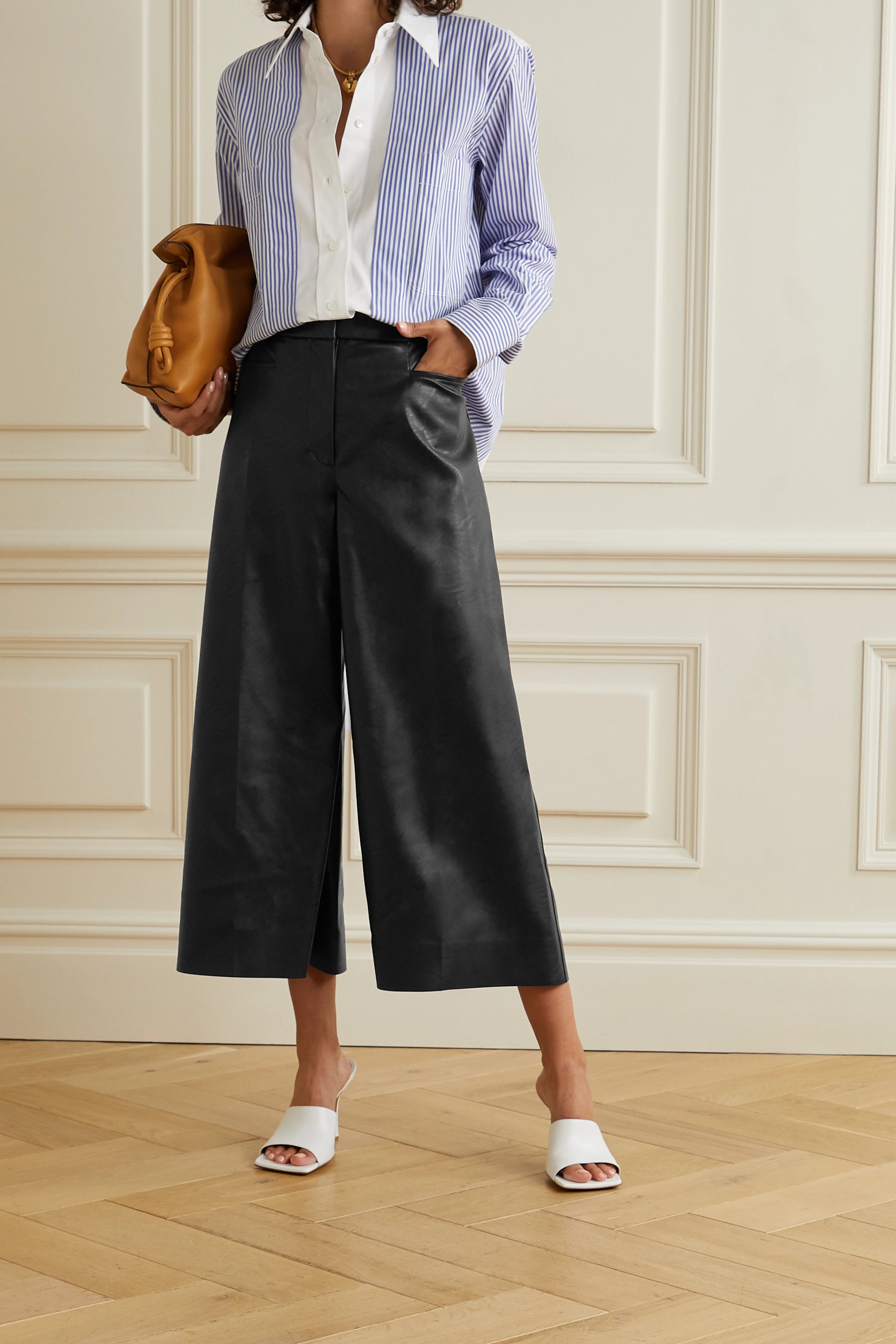 Stella McCartney Charlotte vegetarian leather culottes