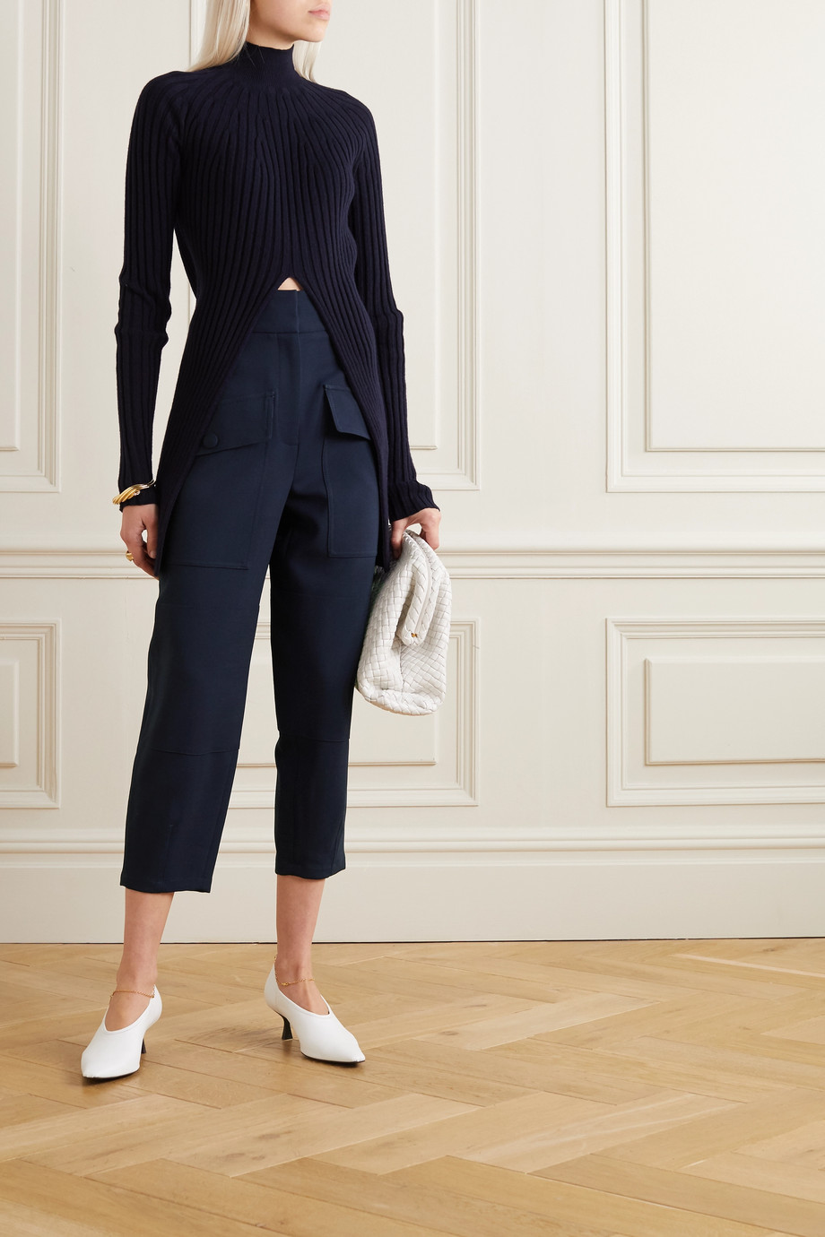 Stella McCartney Cecilia wool-blend crepe tapered pants