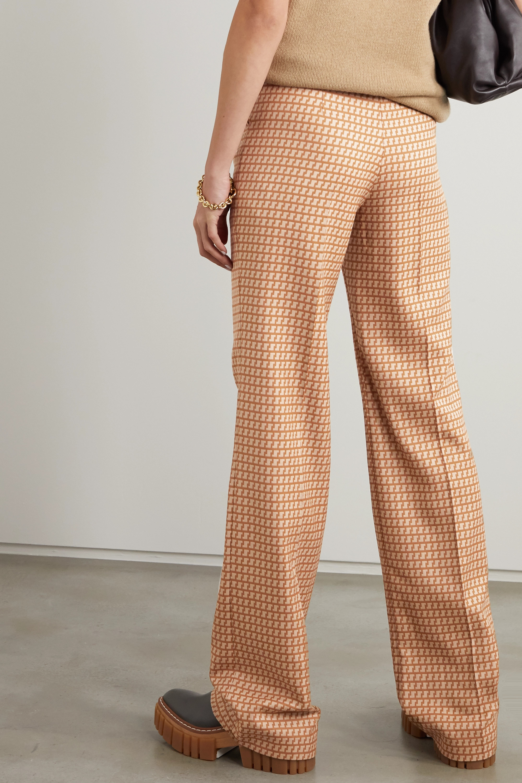 Stella McCartney Claudia wool-jacquard wide-leg pants
