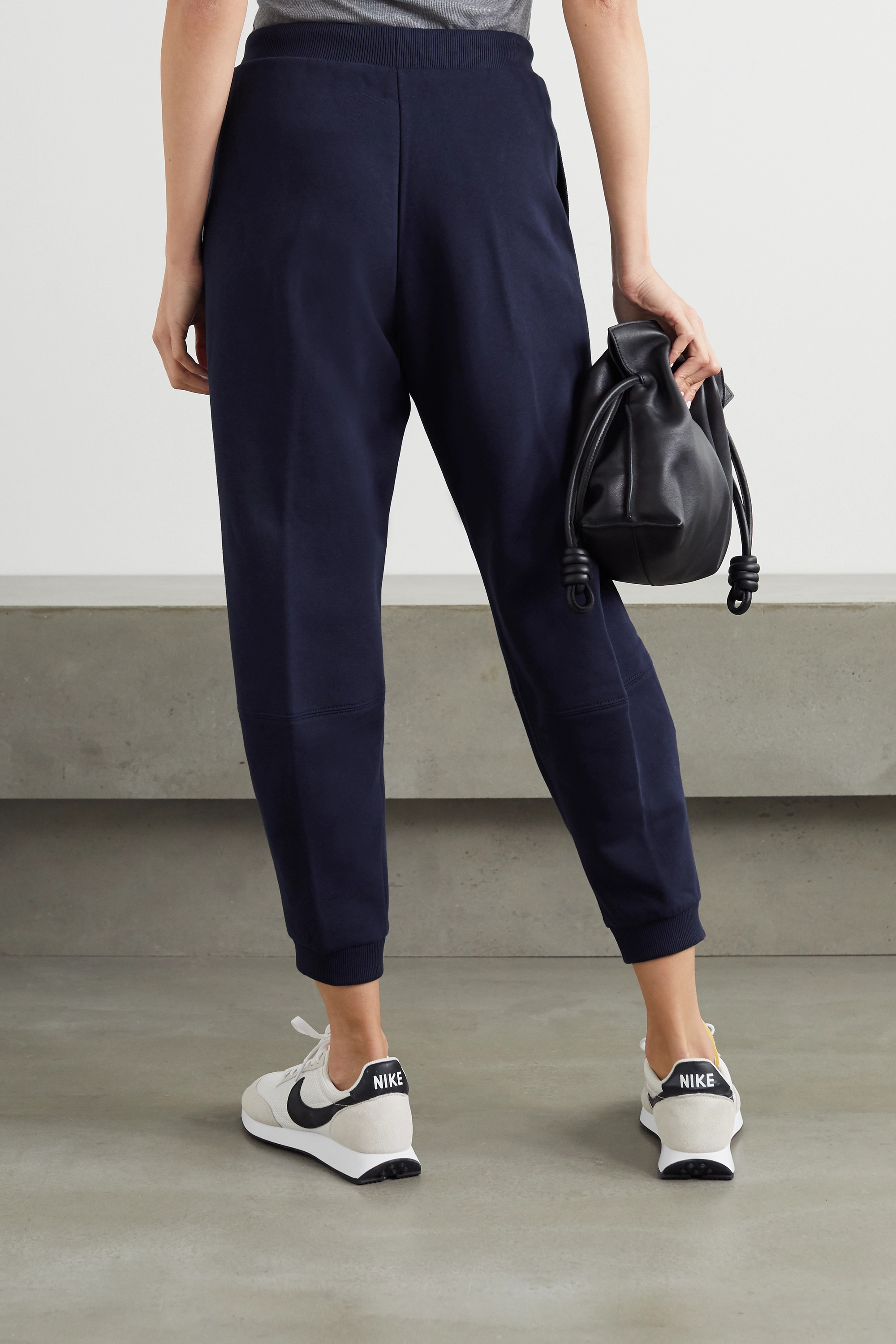 Stella McCartney + NET SUSTAIN cropped organic cotton-jersey track pants