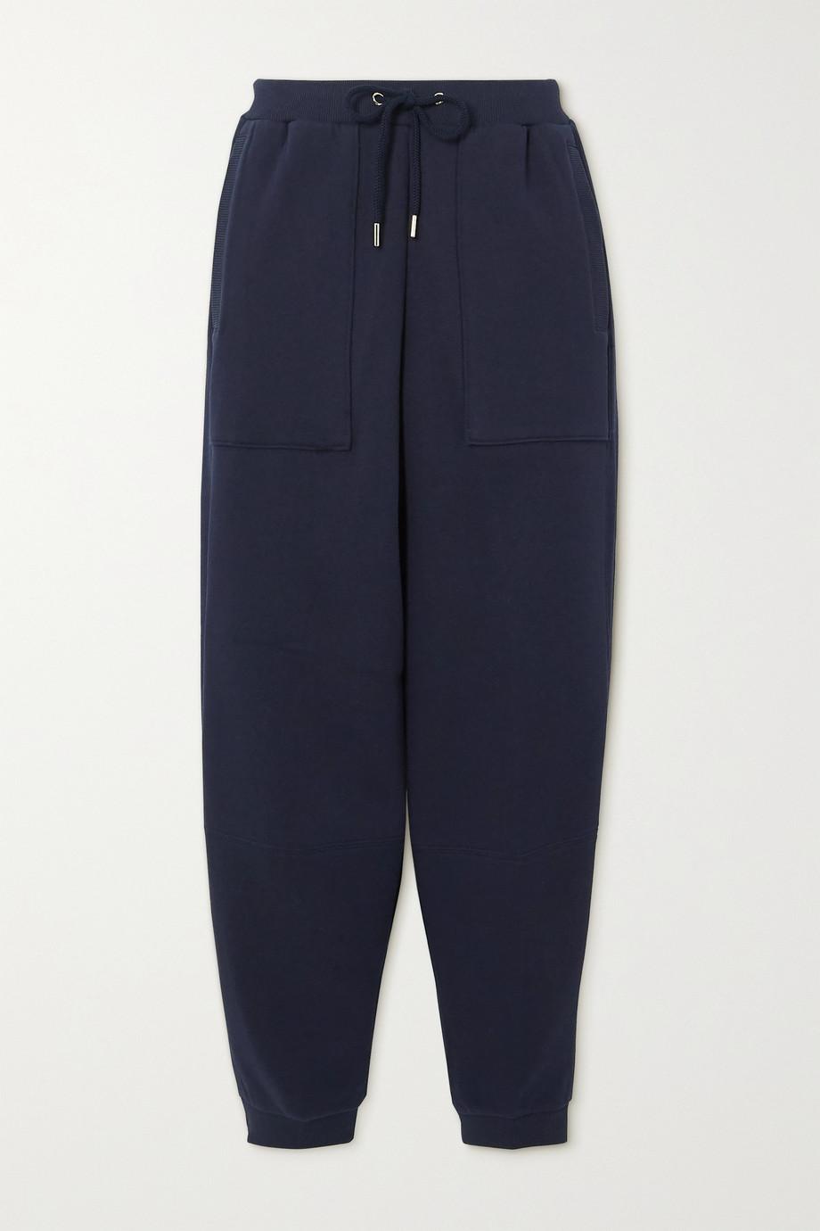 Stella McCartney + NET SUSTAIN cropped organic cotton-jersey track pants
