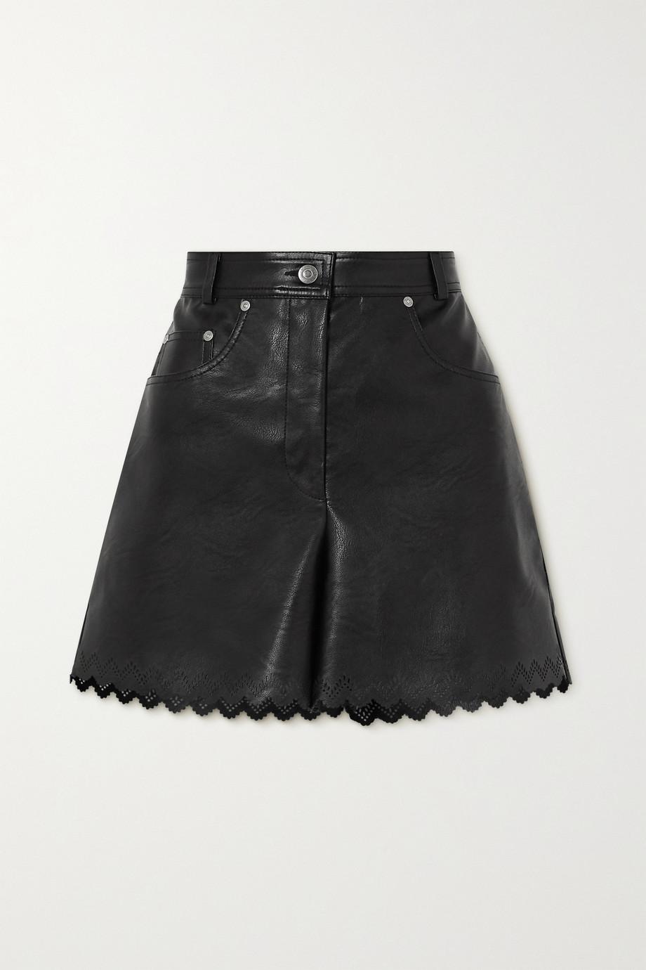 Stella McCartney Maddox Shorts aus Kunstleder mit Wellenkanten