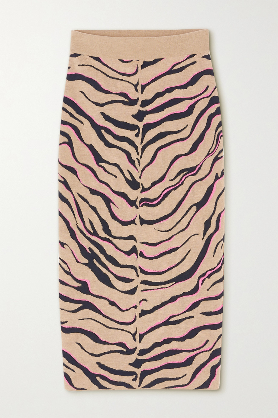 Stella McCartney Jacquard-knit wool-blend midi skirt