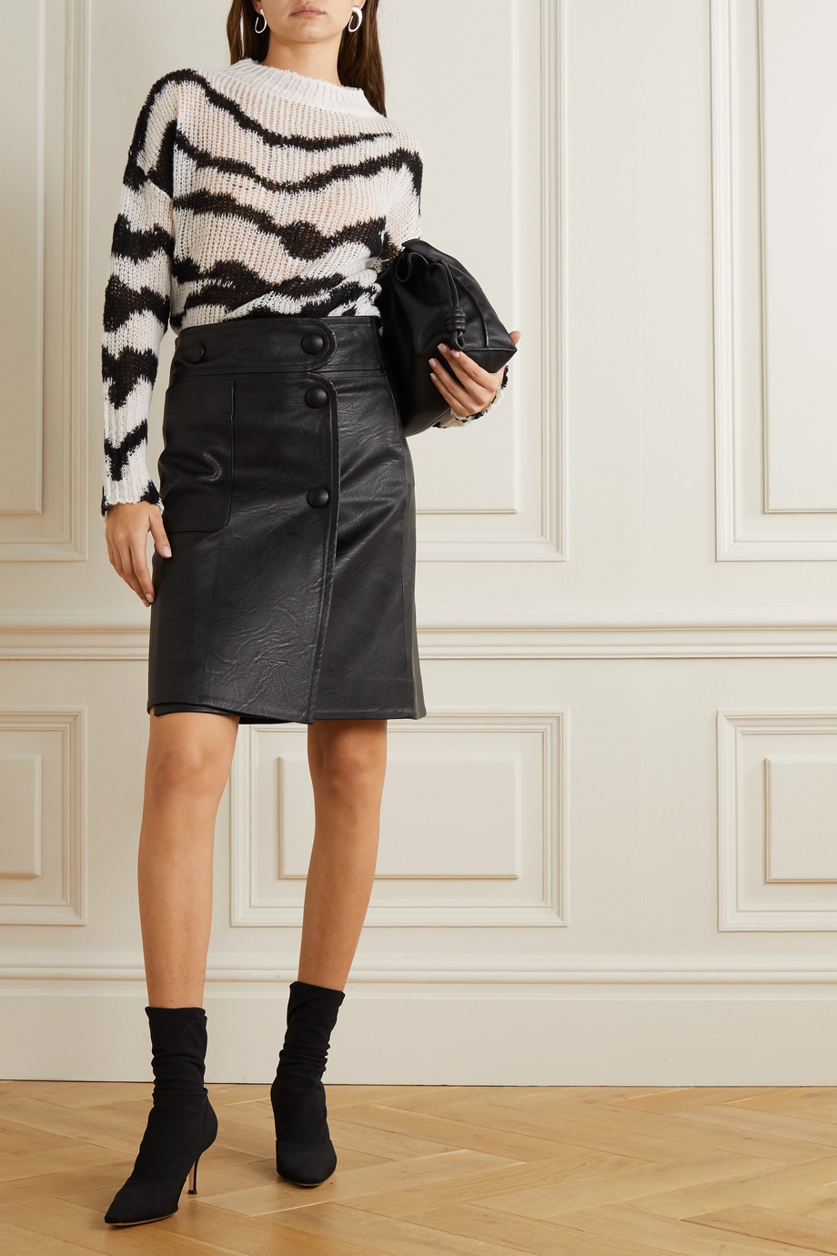Stella McCartney Carly vegetarian leather skirt