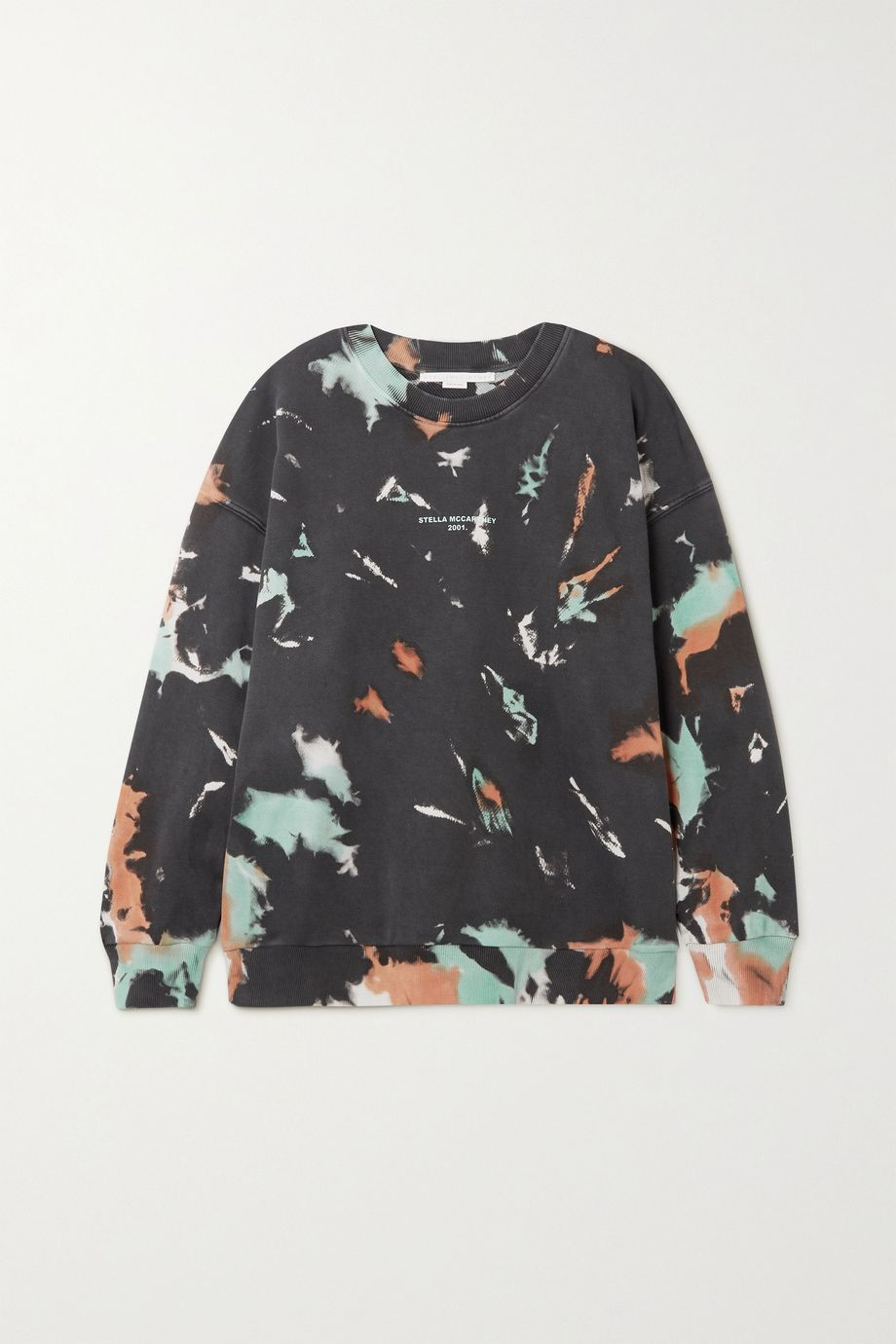 Stella McCartney Printed tie-dyed cotton-jersey sweatshirt