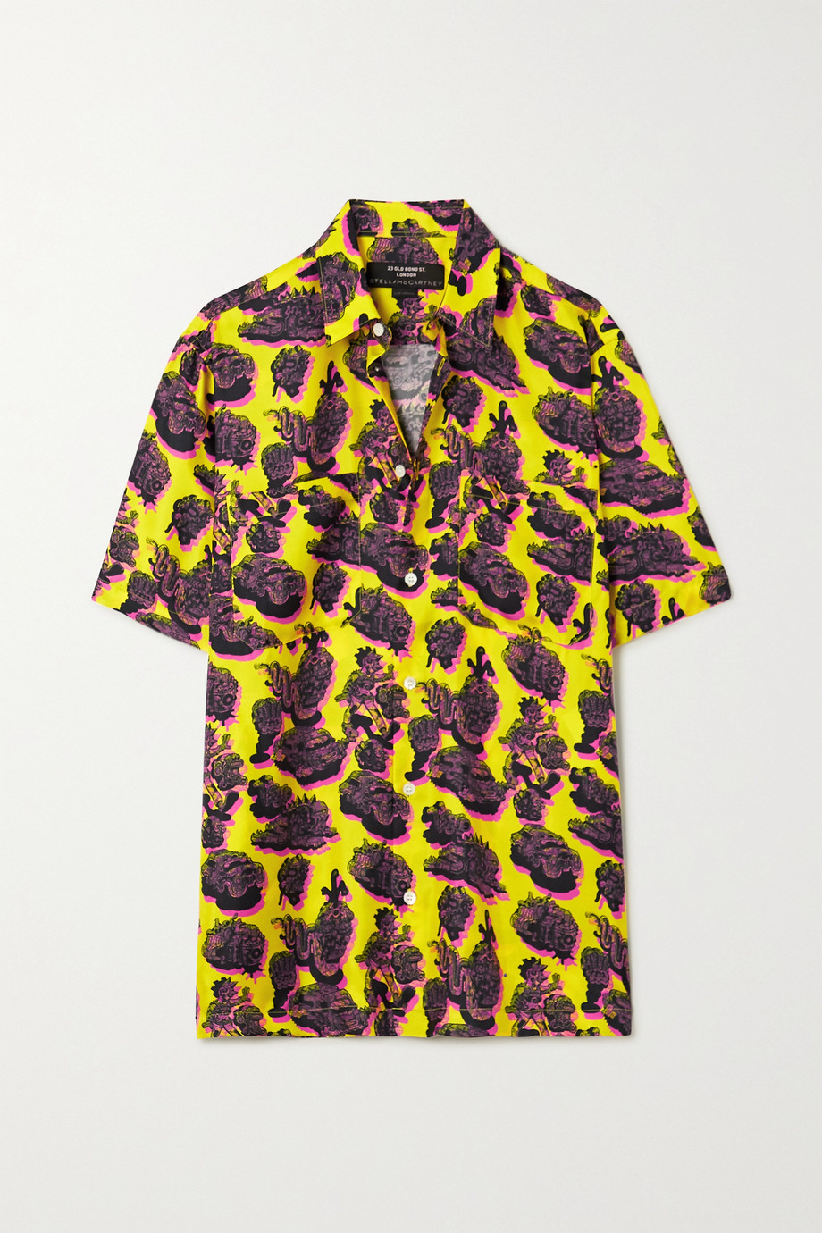 Stella McCartney Ricky printed silk-twill shirt