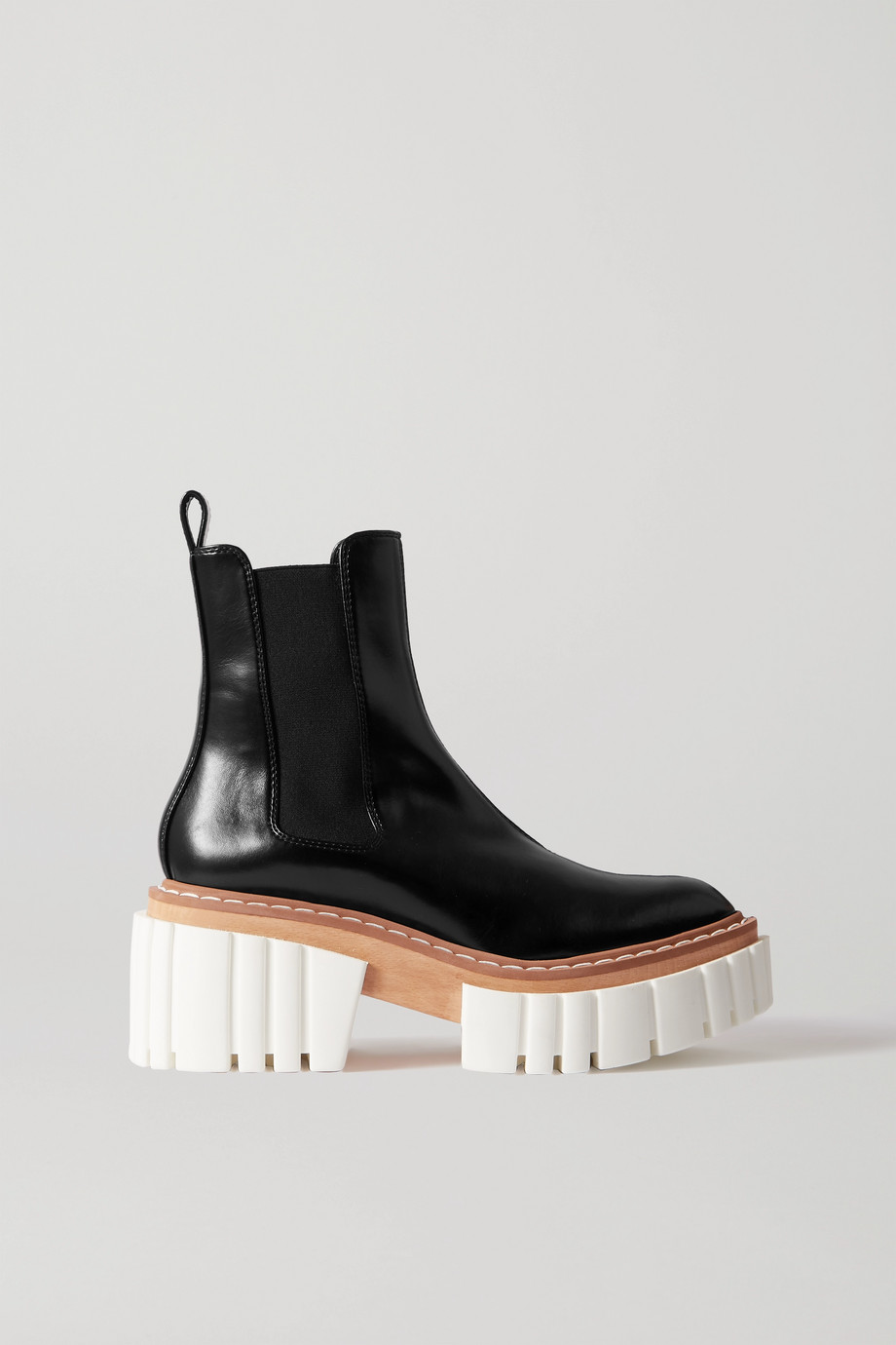 Stella McCartney Emilie vegetarian leather platform Chelsea boots