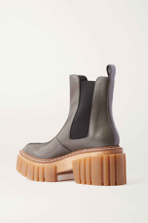 Stella McCartney Emilie vegetarian leather platform Chelsea boots