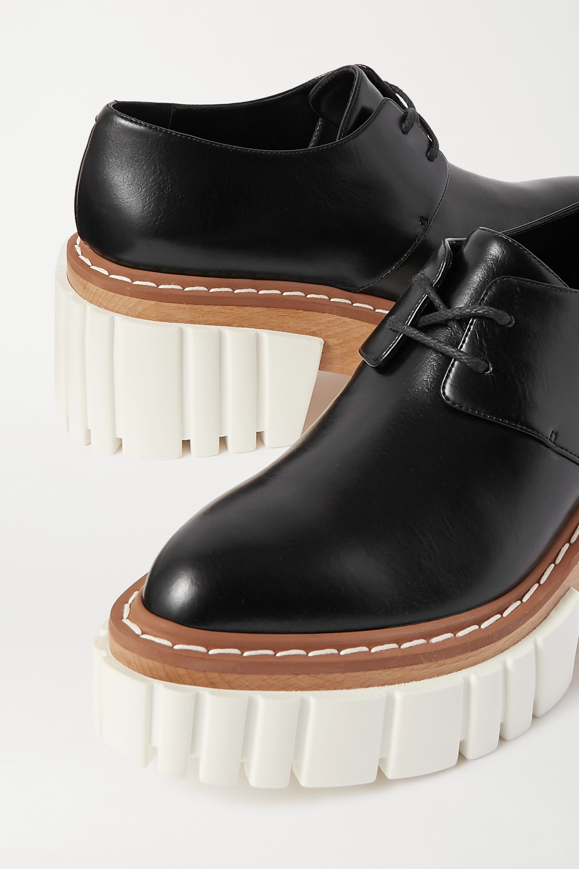Stella McCartney Emilie vegetarian leather platform brogues