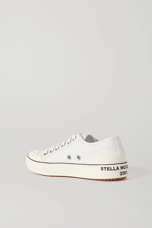 Stella McCartney Logo- appliquéd organic cotton-canvas sneakers