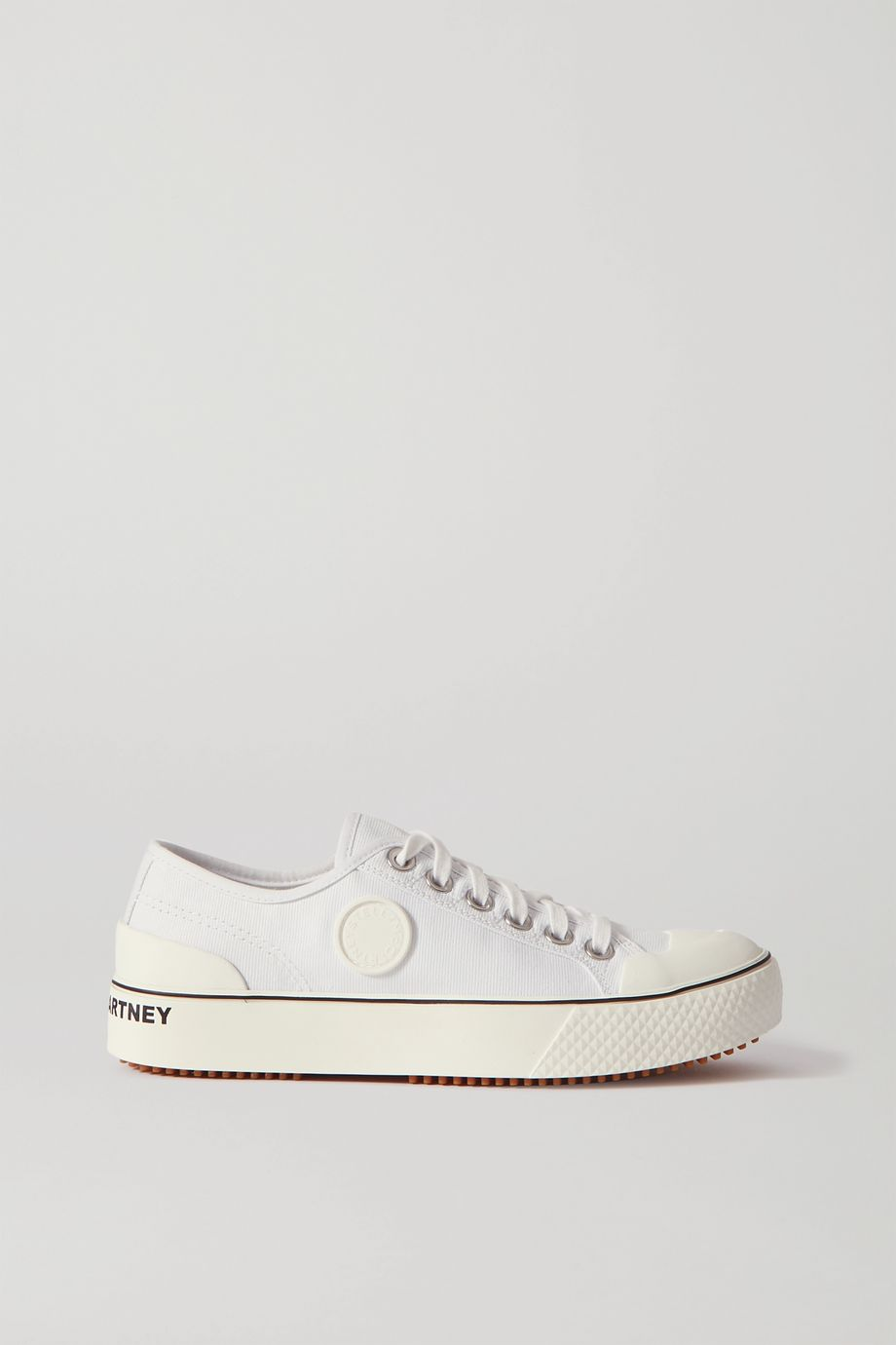 Stella McCartney Logo- appliquéd organic cotton-canvas sneakers
