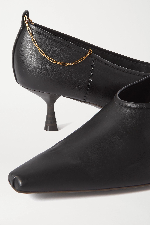 Black Chain-embellished Faux Leather Pumps   Stella Mccartney