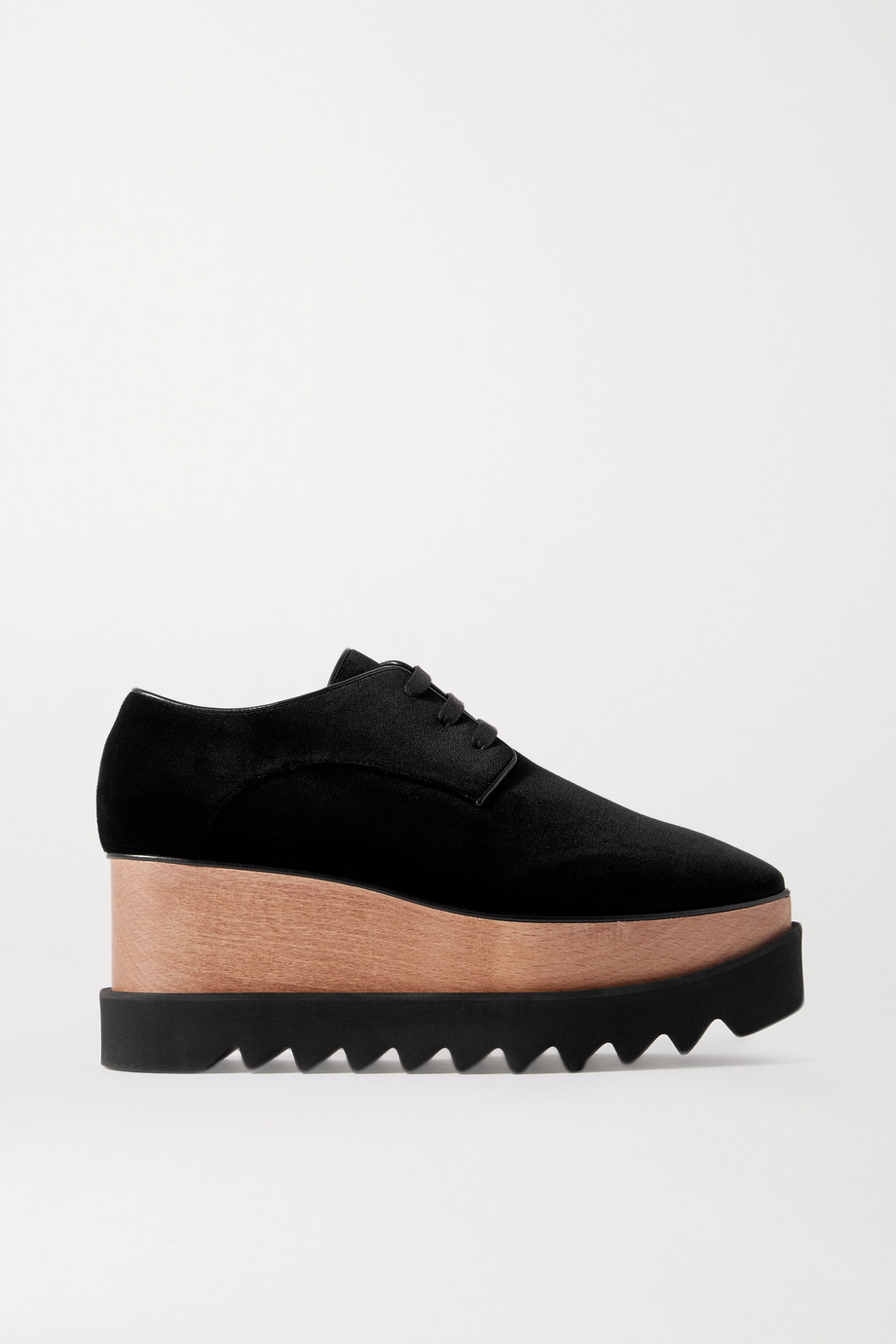 Stella McCartney Elyse velvet platform sneakers