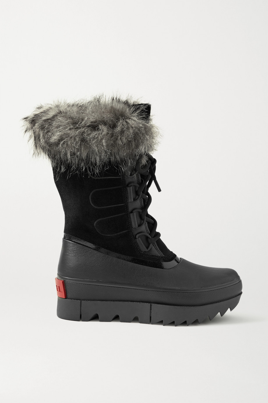 Sorel Joan of Arctic NEXT waterproof faux fur-trimmed suede and leather snow boots
