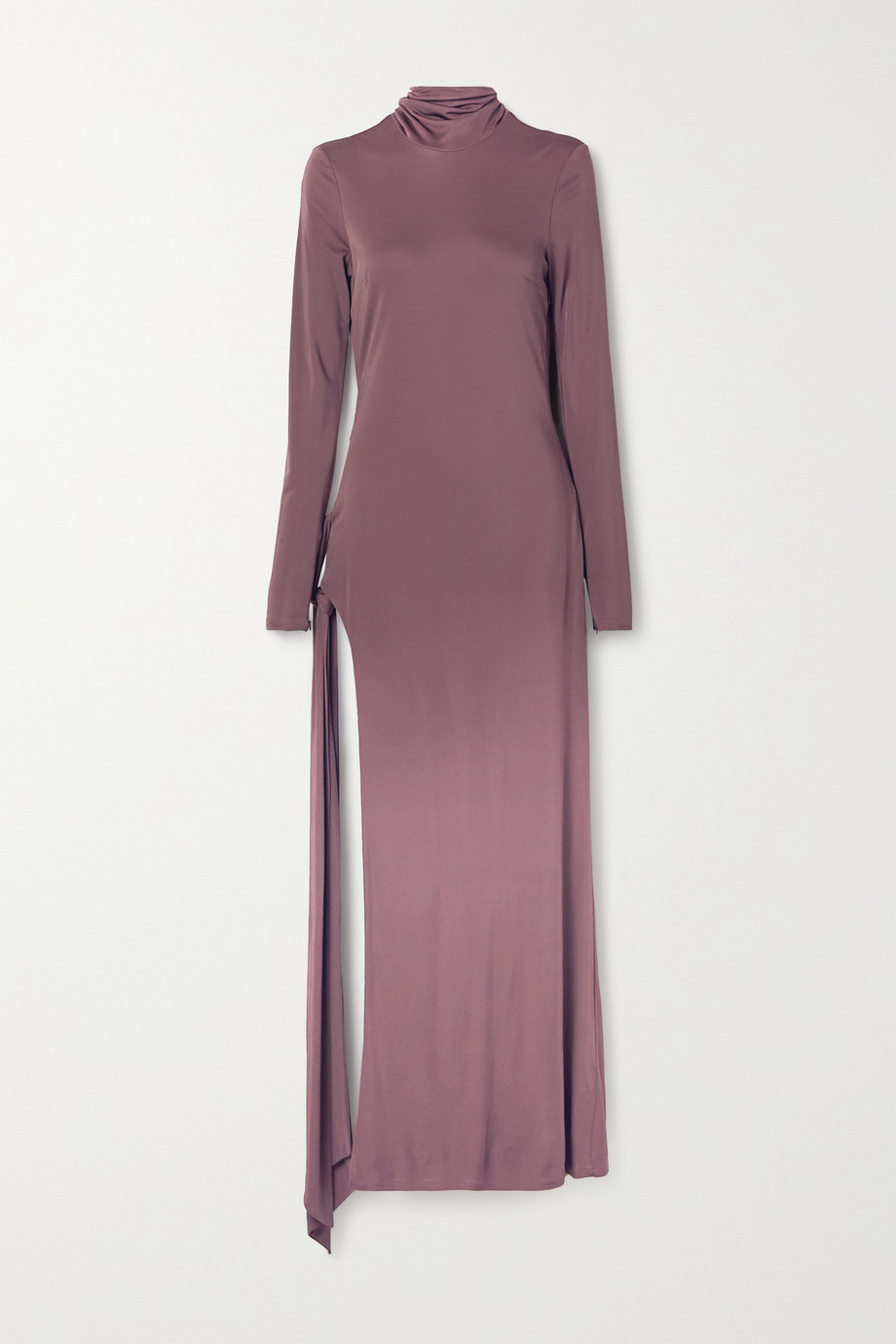 The Attico Tie-detailed cutout jersey maxi dress