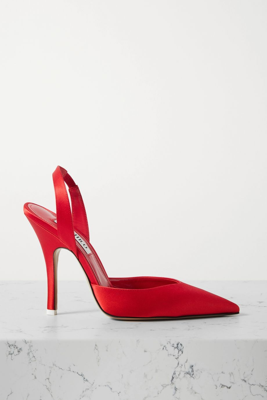 The Attico Lola slingback satin pumps