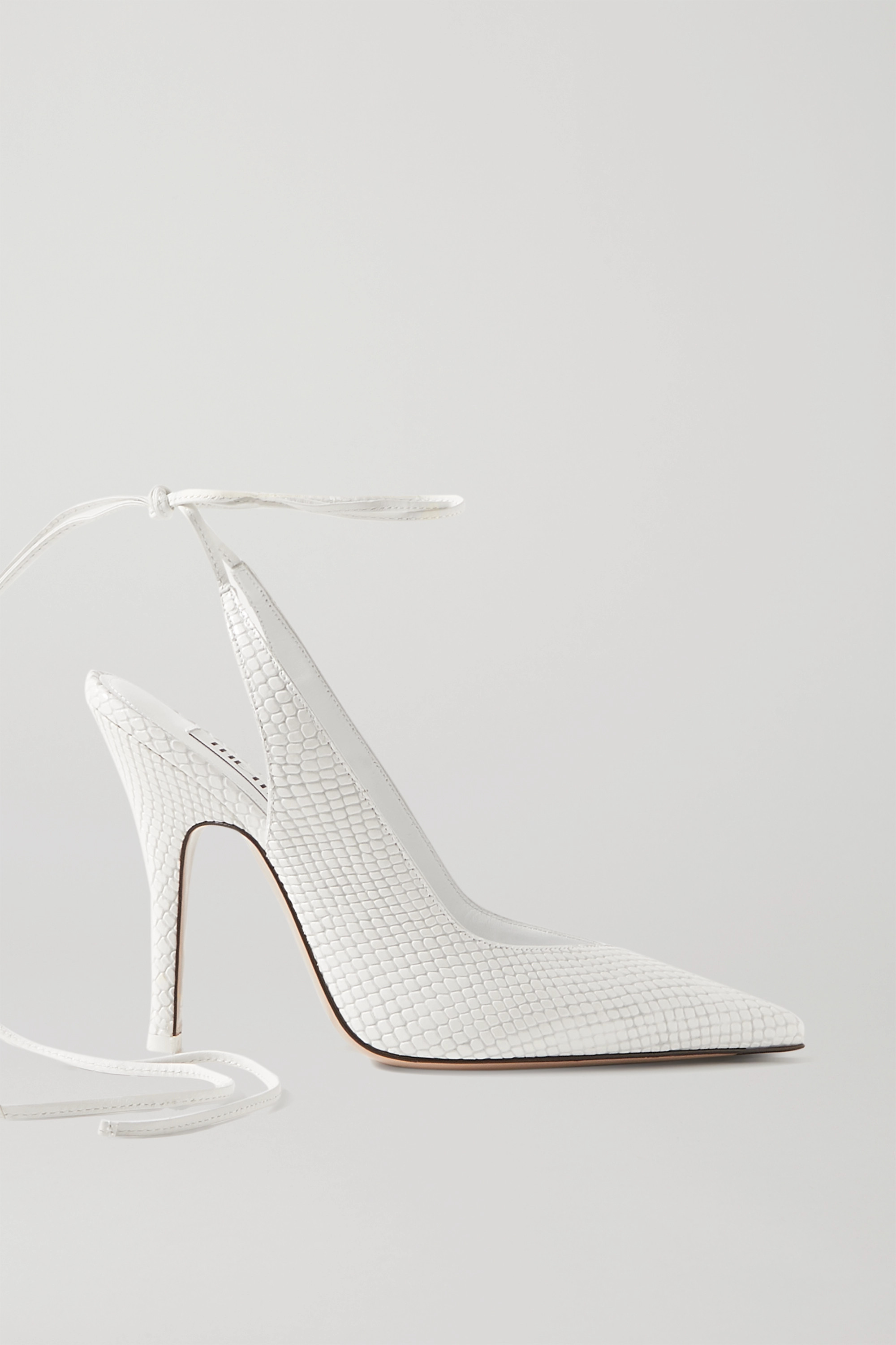 The Attico Venus snake-effect leather pumps