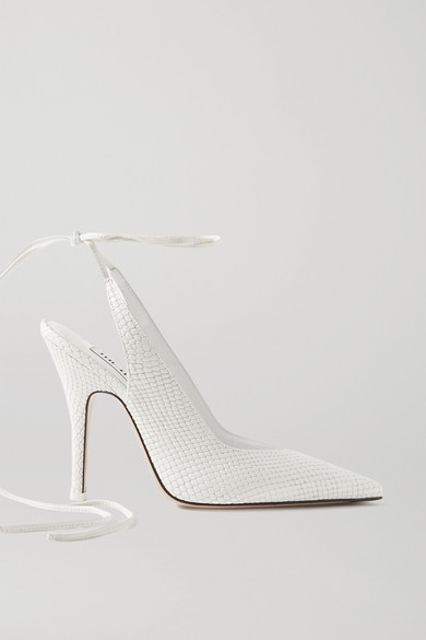 The Attico - Venus Snake-effect Leather Pumps