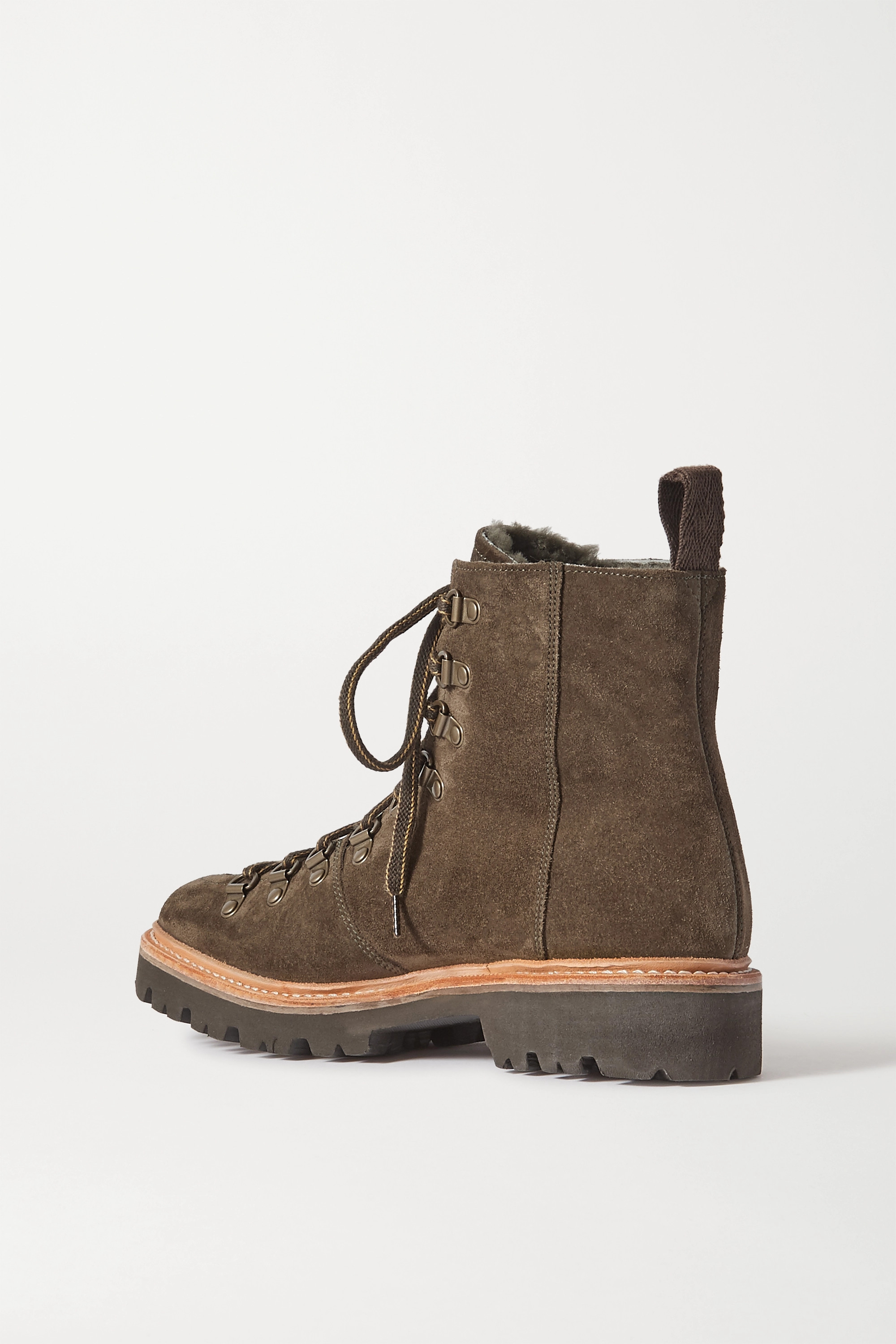 Grenson Nanette shearling-lined suede ankle boots