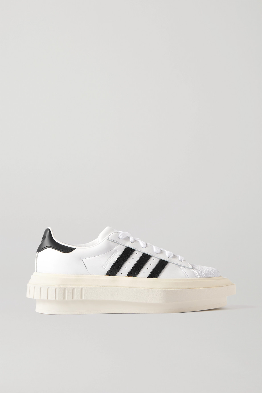 adidas Originals + Beyoncé Superstar leather platform sneakers