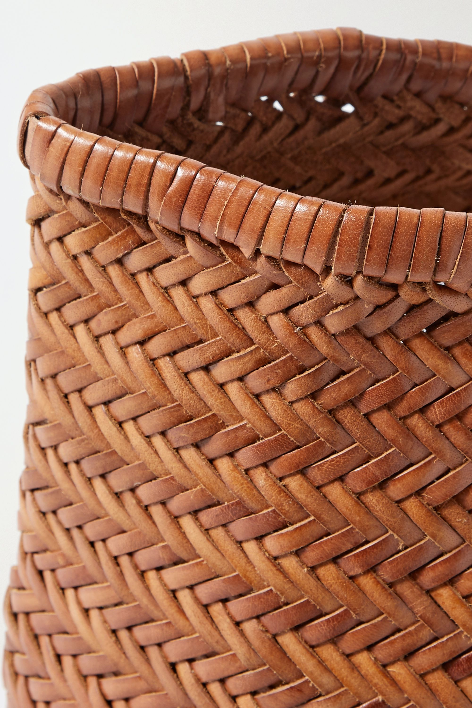 Dragon Diffusion Bamboo Triple Jump große Tote aus geflochtenem Leder