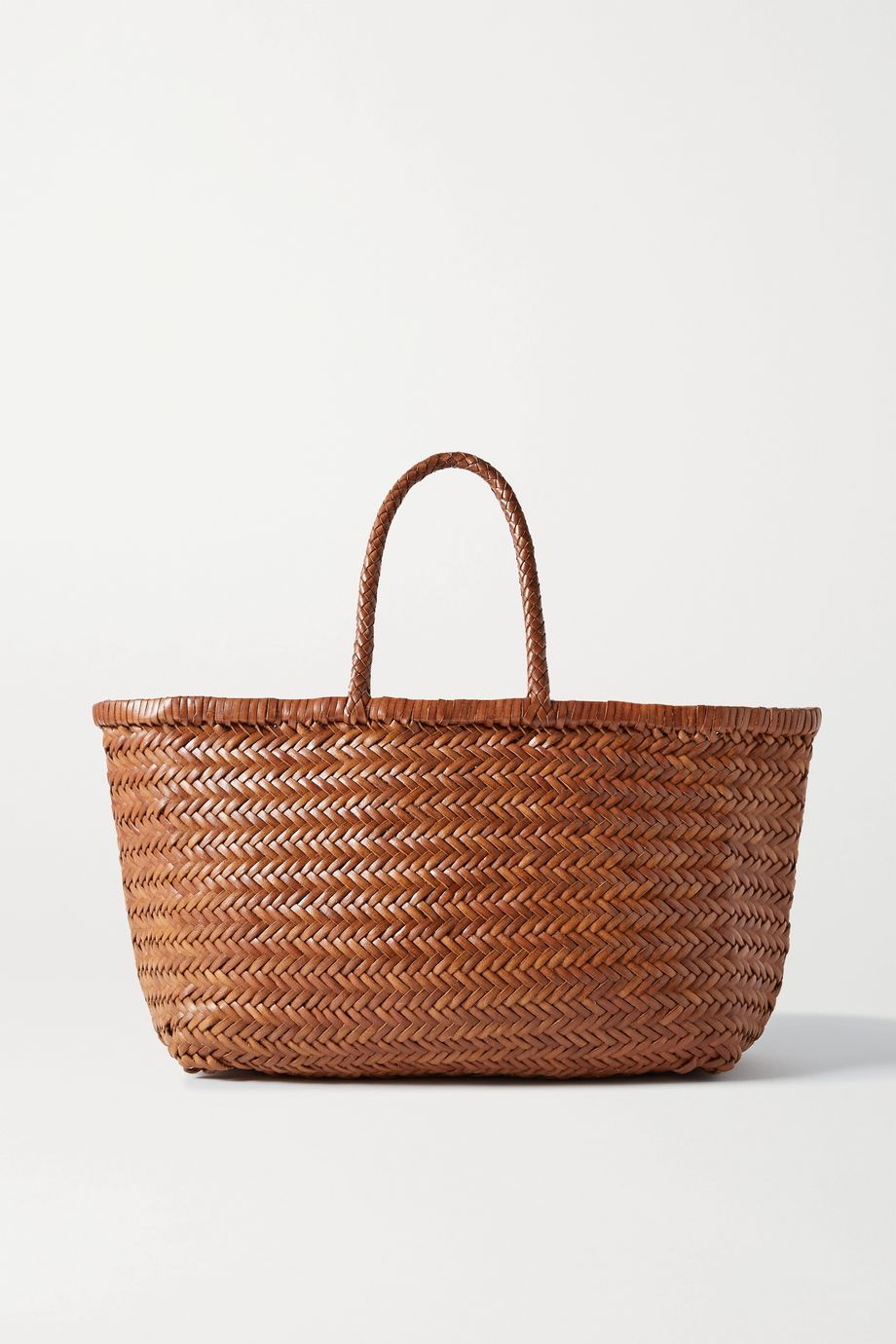 Dragon Diffusion Bamboo Triple Jump large woven leather tote