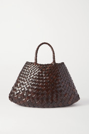 Dragon Diffusion Santa Croce small woven leather tote