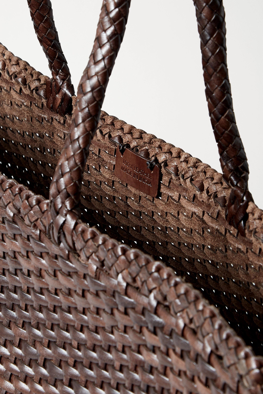 Dragon Diffusion Max large woven leather tote