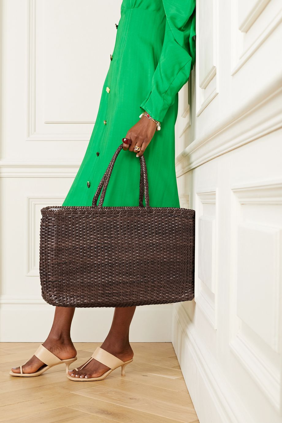Dragon Diffusion Max large woven leather tote