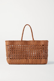 Dragon Diffusion Cannage Max woven leather tote
