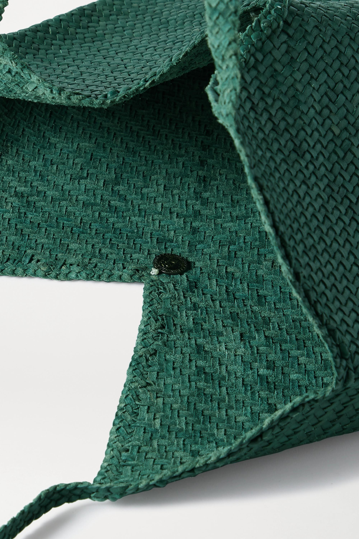 Dragon Diffusion V woven leather tote