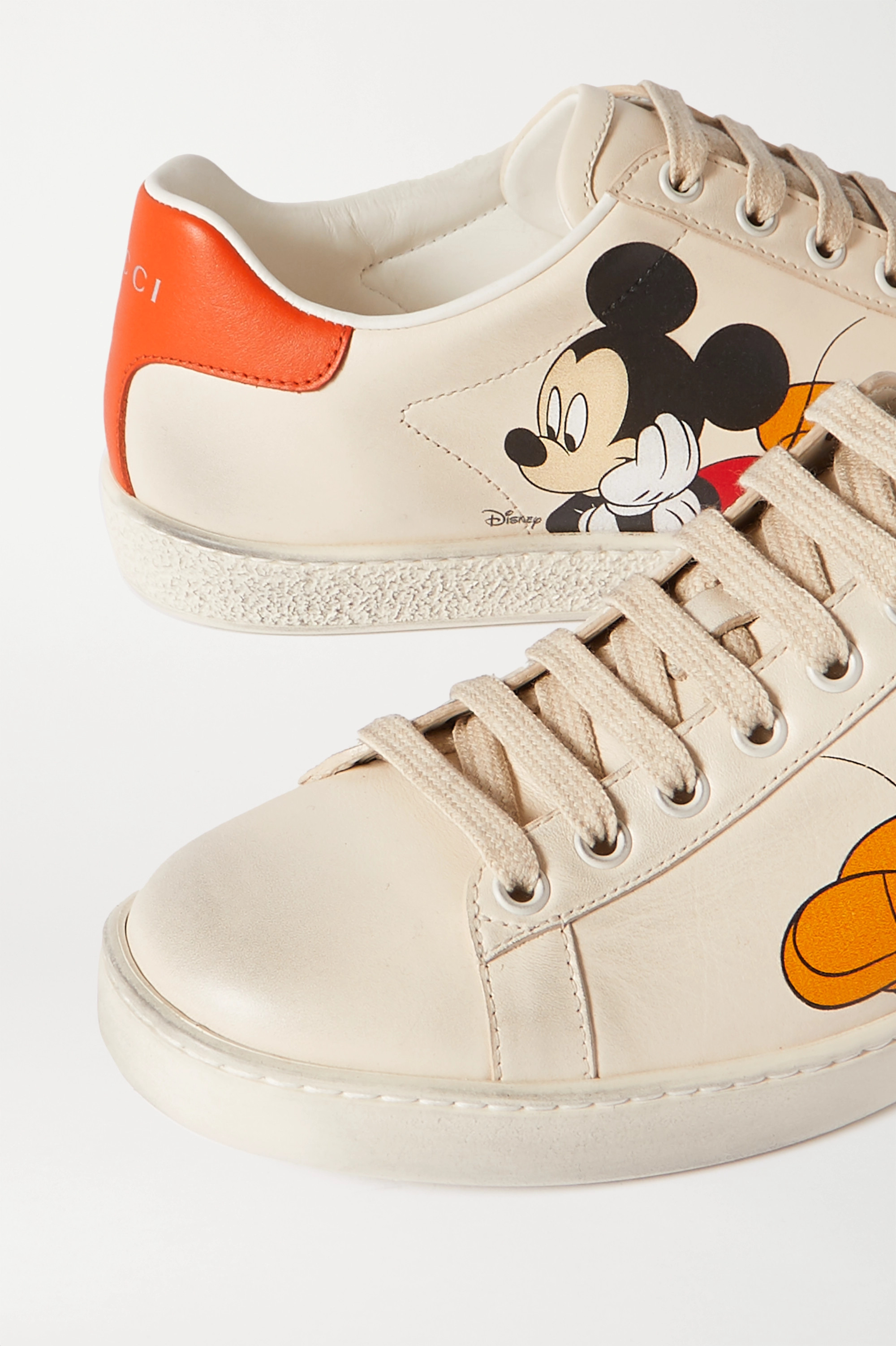 Gucci + Disney Ace printed leather sneakers