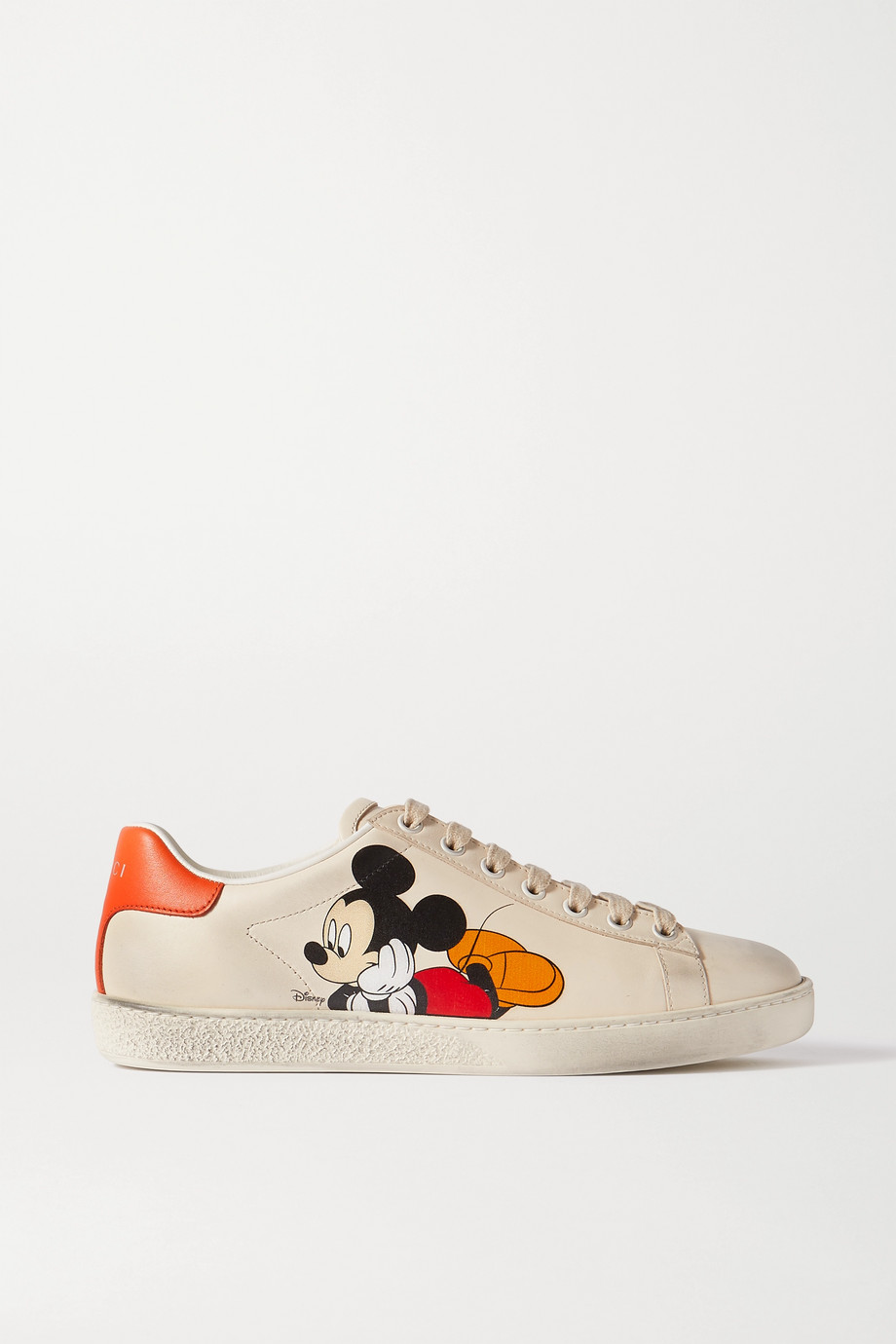 Gucci Baskets en cuir imprimé Ace x Disney